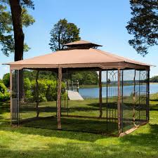 Outdoor Patio Gazebo 12x12 by Amazon Com 10 X 12 Regency Ii Patio Gazebo With Mosquito Netting