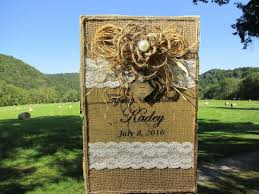 rustic wedding album rustic wedding album burlap and lace photo album 4 x 6 photos