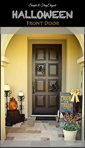 easy halloween front door decor frugelegance