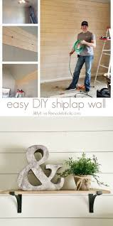 How To Decorate A Home Office On A Budget Remodelaholic How To Install A Shiplap Wall Rustic Home Office