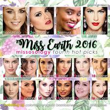 miss earth 2016 fourth picks missosology