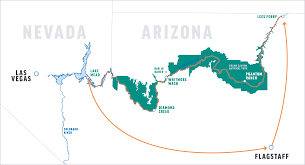 Lake Mead Map Before You Go Grand Canyon Rafting Lees Ferry To Lake Mead