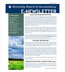 email newsletter example 8 email newsletter templates free sample