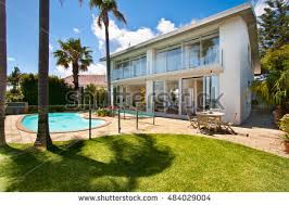 House With Swimming Pool Luxury Villa Swimming Pool Outside Exterior Stock Photo 347311892
