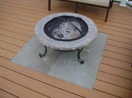 alluring deck protect fire pit pad combo deks decoration deck