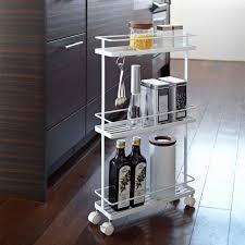 kitchen storage tower awesome tower kitchen storage cart zola