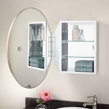 recessed oval bathroom medicine cabinet amazon com zenith benevola