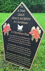 grave plaques personalised christmas memorial grave plaque bereavement