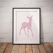 Baby Deer Nursery Woodland Nursery Print Set Fortune U0026 Hopkins Nursery Art