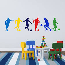 personalised bedroom wall stickers personalised wall stickers football boys wall stickers