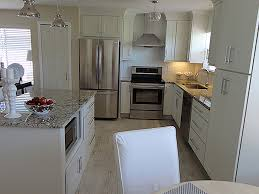 shaker white painted cabinets florida kitchen photos