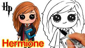 draw hermione step step chibi harry potter