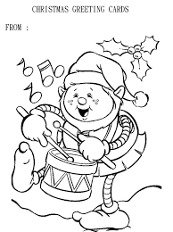 10 christmas cards coloring images