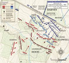 Map Of The United States During The Civil War by Gettysburg Union Clears The Wheatfield Civil War Trust