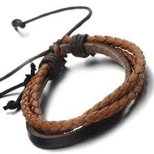 braided leather bracelet women images Buy hand made multi strand brown braided leather bracelet for men jpg