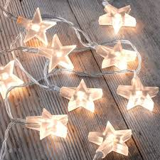 battery operated star lights set of 12 battery operated 2 5m indoor string lights clear stars