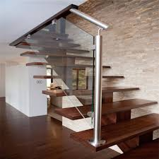 diy assembly mono stringer l shape stairs with oak wood tread