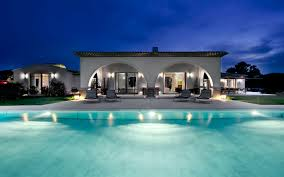 Pool House Ideas by Arched Pool House At Night Interior Design Ideas