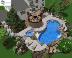 Pool Landscape Design by Pool Landscape Design Christmas Lights Decoration