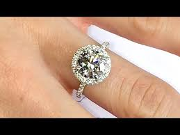 2 carat solitaire engagement rings 2 ct halo engagement ring