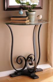 Accent Tables For Foyer Furniture Mesmerizing Half Moon Accent Table With Elegant Looks