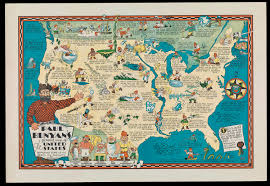 United States Map Compass by Maps To Amuse Osher Map Library