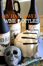 home made holloween decorations diy halloween decorations using empty wine bottles