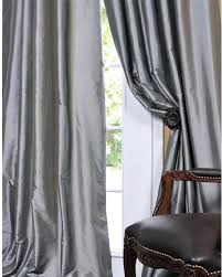 gray silk curtains solid faux silk taffeta platinum curtain panel