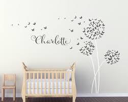 stickers geant chambre fille stickers géant pour chambre bébé avec prénom by urbanartworkstore