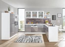 einbau küche einbauküche hochglanz dunkelgrau skandic oak inkl elektrogeräte