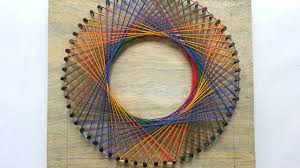 how to create a colorful spirograph string art diy tutorial