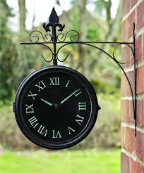 Outdoor Pedestal Clock Thermometer Double Sided Outdoor Clock And Thermometer Outdoor Designs