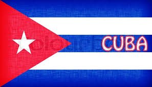 flag of cuba stitched with letters stock photo colourbox