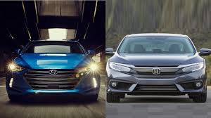 honda civic or hyundai elantra 2017 hyundai elantra vs 2016 honda civic