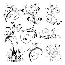 various different floral designs vector free