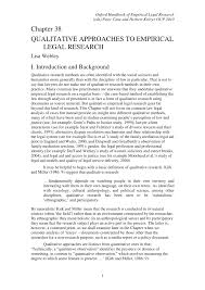 how to write a qualitative research paper chapter 38 qualitative approaches to empirical legal research pdf chapter 38 qualitative approaches to empirical legal research pdf download available
