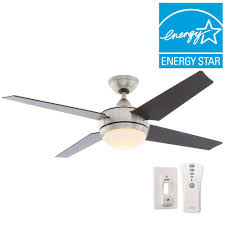sonic 52 in indoor brushed nickel ceiling fan with light