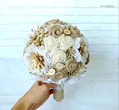 Shabby Chic Wedding Bouquets by Burlap Bouquet Alternative Bouquet Boho Wedding Bouquet Shabby