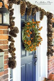 diy pinecone garland tutorial on sutton place