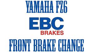 2005 yamaha fz6 front brake change youtube