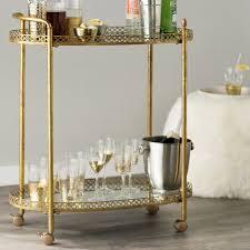 Mirrored Bar Cabinet Mercer41 Royse Mirrored Bar Cart U0026 Reviews Wayfair