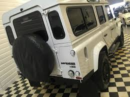 white land rover defender second hand land rover defender defender 110 2 4 tdci stationwagon