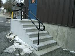 Stair Handrail Ideas Stairs Amazing Exterior Stair Handrail 2 Step Outdoor Handrail