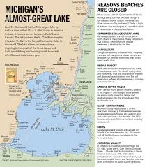 Maps Of Macomb County Michigan And Locals And Locations by Lake St Clair Where Water Pollution Beach Closures Still Unresolved