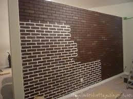 How To Paint A Faux Brick Wall - this basement wall is a poured concrete with a brick texture i