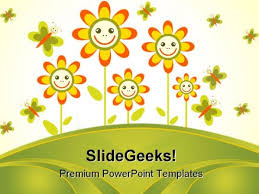 flowers frame beauty powerpoint templates and powerpoint
