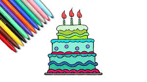 baby learn colors coloring pages birthday cake color circle cake