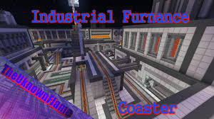 industrial theme industrial furnace themed minecraft roller coaster youtube