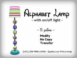 second life marketplace alphabet floor lamp children u0027s lamp