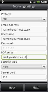 setting up email on android setup bluehost email on android my cool